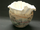 Bone China Form in Stoneware Vessel