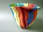 Chromatic Interval, Bone china folded form