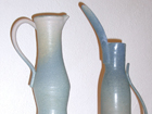 Tall Stoneware Pouring Vessels, Thrown