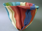 Bone china folded colour form - Private Collection