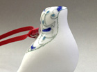 Bone China bird, blue and white design