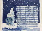 Papageno, Papagena duet from 'The Magic Flute', W. A Mozart, narrative porcelain score, 2015, Commission, Private Collection
