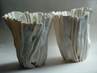 Porcelain Folded Forms, h26 and h25cms